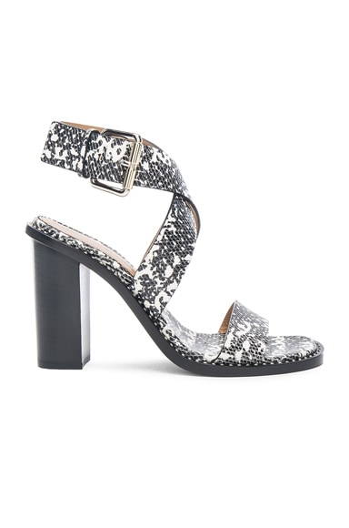 Proenza Schouler Vipera Wrap Around Heels in Black & White