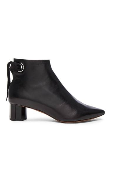 Proenza Schouler Leather Tie Boots in Black