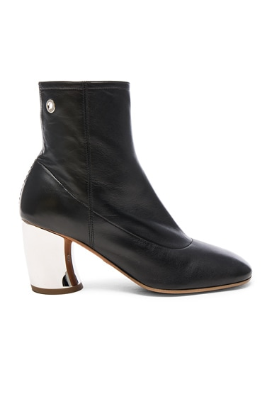 Proenza Schouler Leather Booties in Black