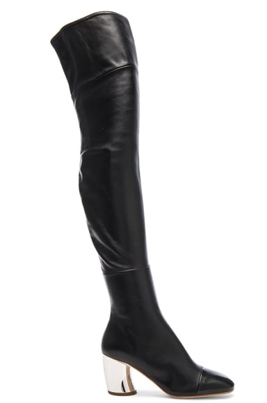 Proenza Schouler Leather Over the Knee Boots in Black
