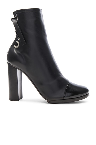 Proenza Schouler Platform Leather Booties in Black