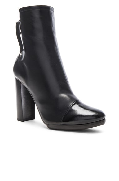 Platform Leather Booties