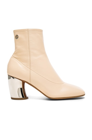 Proenza Schouler Leather Booties in Beige