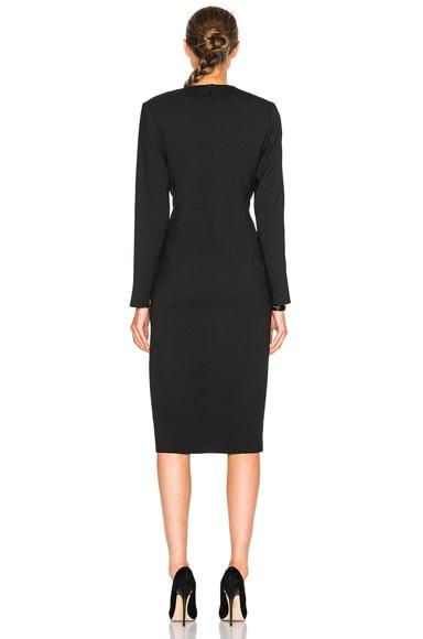 Deep V Tailored Dress