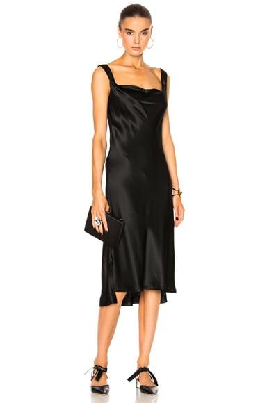 Protagonist New Draped Slip Dress in Onyx