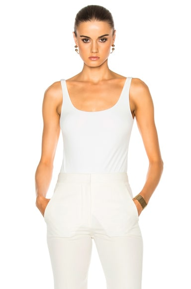 Protagonist Scoop Neck Bodysuit in Ivory