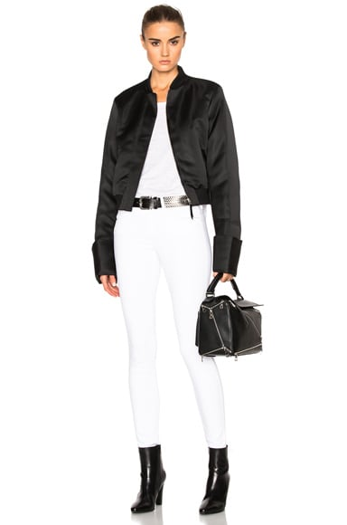 Exaggerated Sleeve Bomber Jacket