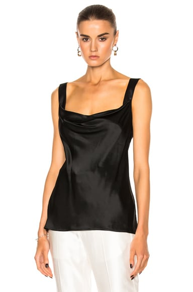 Protagonist New Draped Cami in Onyx