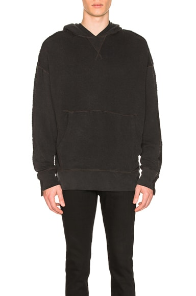 Two Toned Seamed Hoodie