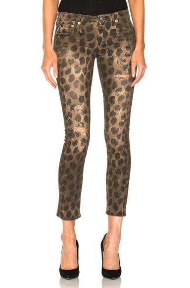 R13 Kate Skinny in Leopard