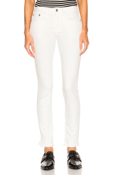 R13 Alison Skinny in Garret White