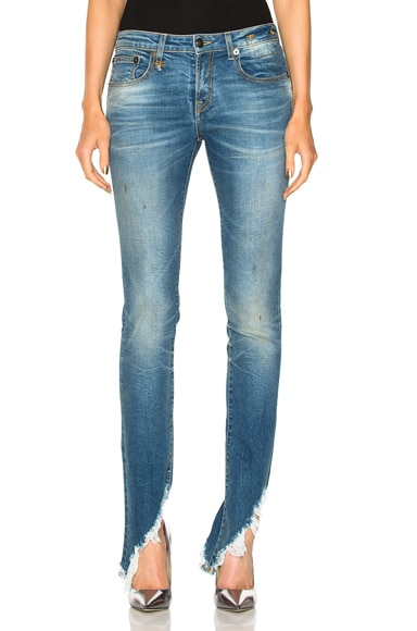 Kate Skinny with Angled Hem