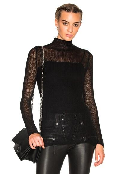 R13 Weightless Cashmere Sweater in Black