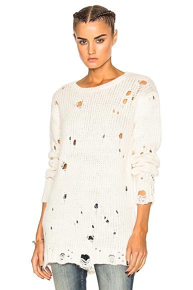Shredded Crewneck Sweater