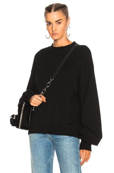 Pleated Sleeve Sweatshirt