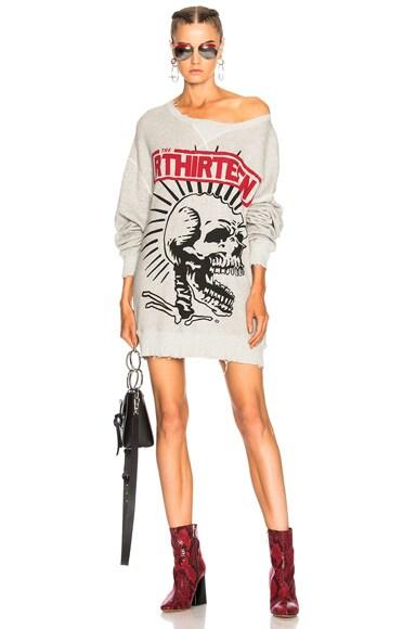 Exploited Punk Outline Oversized Sweatshirt