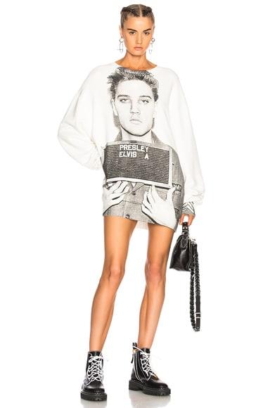 Elvis Mugshot Oversized Sweatshirt