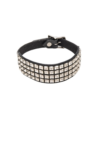 R13 Square Studded Choker in Black