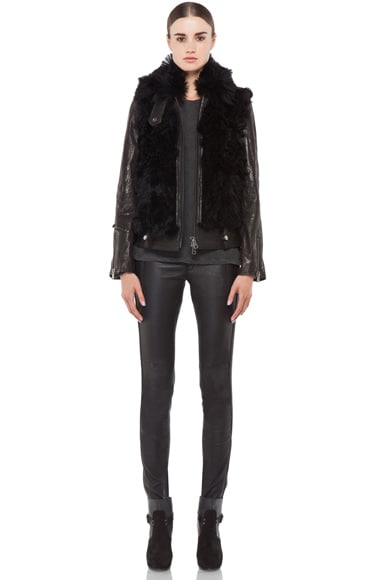 Leather Shearling Bear Jacket