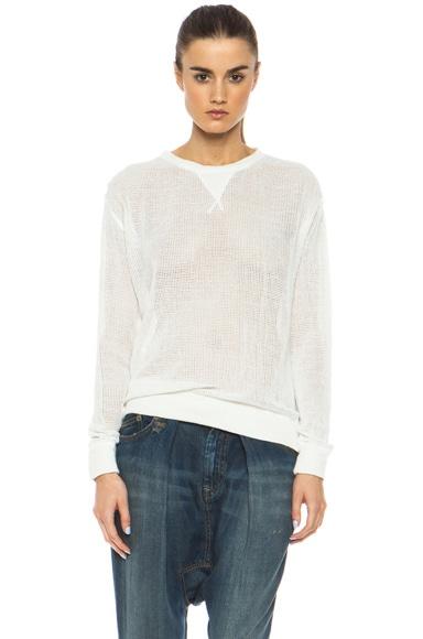 Mesh Cotton Sweatshirt