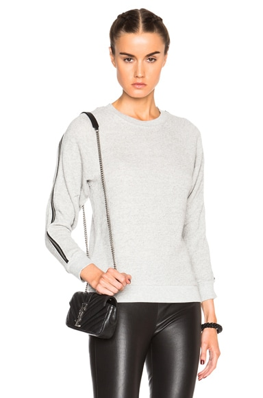 R13 Ziggy Sweatshirt in Heather Grey