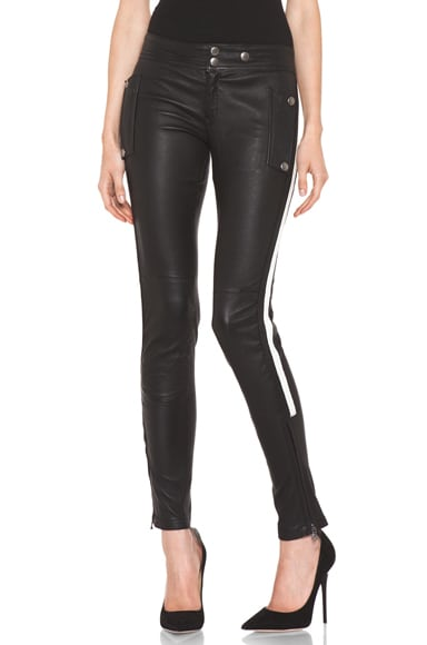 Leather Racing Biker Pant