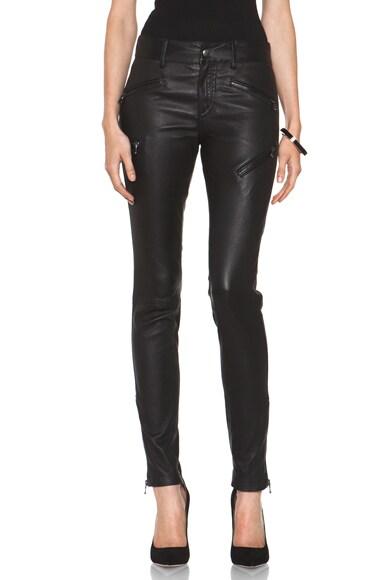 Leather Biker Zip Pant