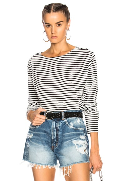 Long Sleeve Boat Neck Top