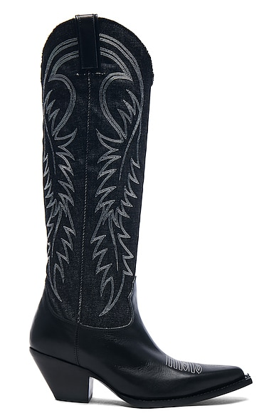 Denim Cowboy Mid Straight Cowboy Boots