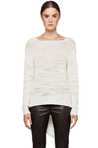 Poppy V Hem Sweater
