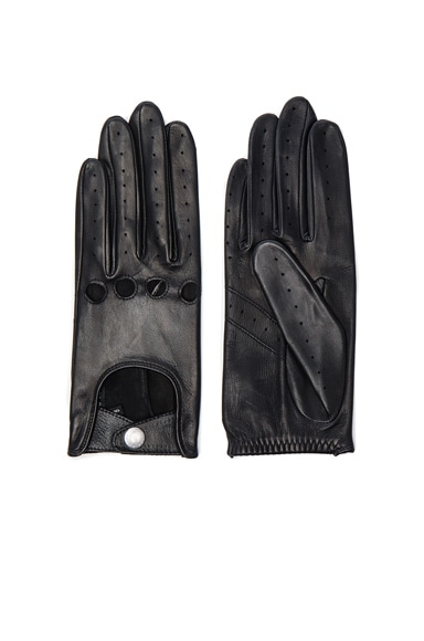 Rag & Bone Driving Gloves in Black
