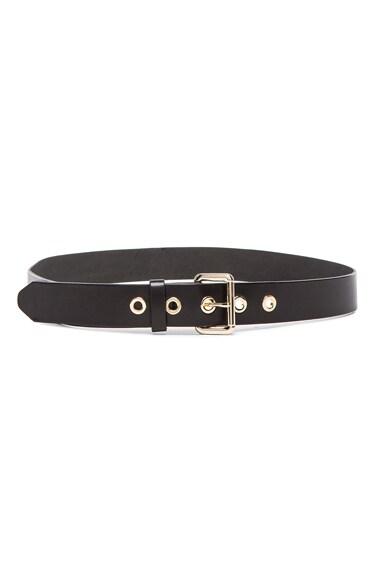 rag & bone Classic Eyelet Belt in Black
