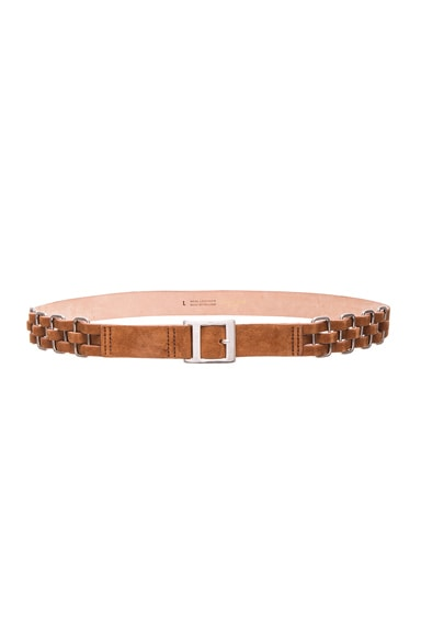 rag & bone Eva Belt in Walnut