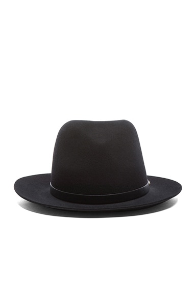 Rag & Bone Floppy Brim Fedora in Black