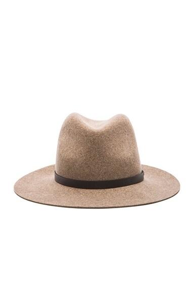 rag & bone Floppy Brim Fedora Hat in Brown Multi