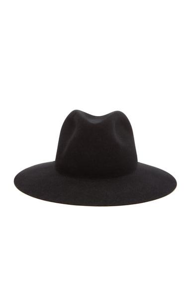 rag & bone Range Fedora Hat in Black