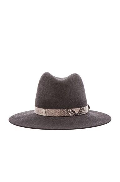 rag & bone Floppy Brim Fedora Hat in Black Mix