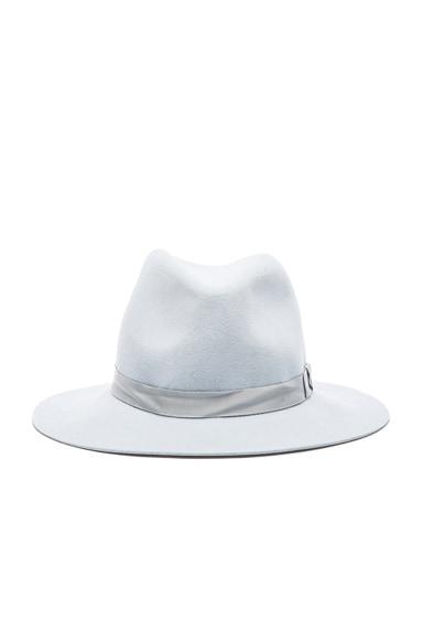 rag & bone Floppy Brim Fedora Hat in Pale Blue