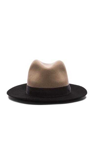 Rag & Bone Floppy Brim Fedora Hat in Almond Multi