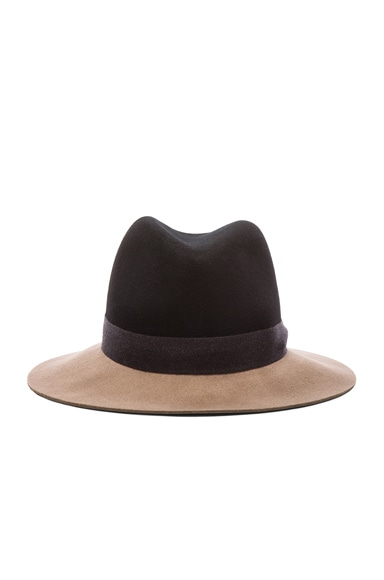 rag & bone Floppy Brim Fedora Hat in Black Multi
