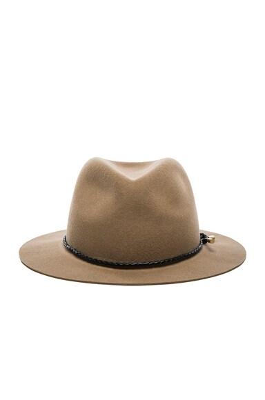 rag & bone Abbott Fedora Hat in Camel