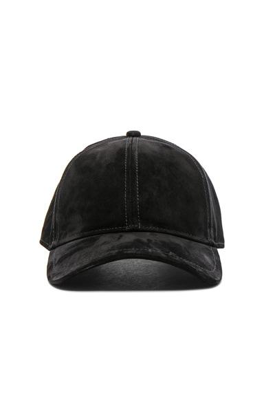 Rag & Bone Marilyn Baseball Cap in Black Suede