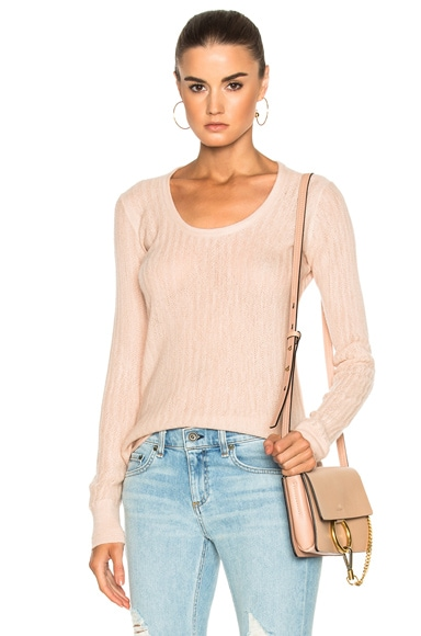 Rag & Bone Estelle Cashmere Scoopneck in Rose Dust