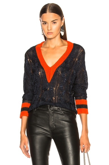 Emma Cropped V Neck Sweater