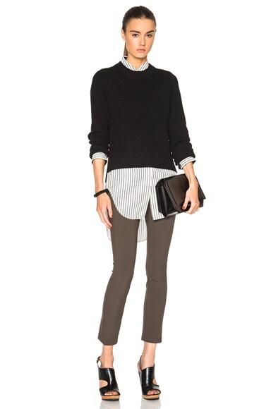 rag & bone Valentina Crop Sweater in Black
