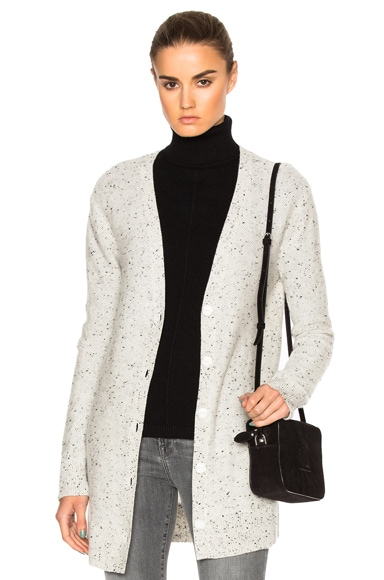 Rag & Bone Tamara Cashmere Cardigan in Light Grey