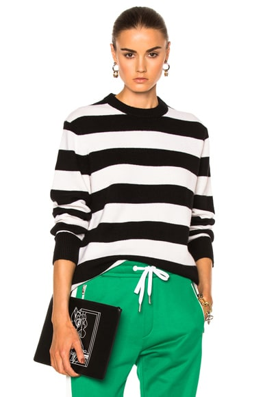 Rag & Bone Shana Cashmere Sweater in Black & White