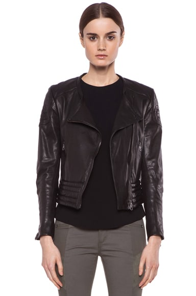 Clare Lambskin Leather Jacket