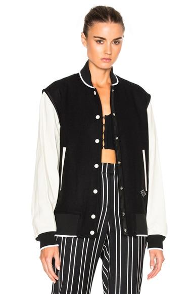 Rag & Bone Edith Varsity Jacket in Black