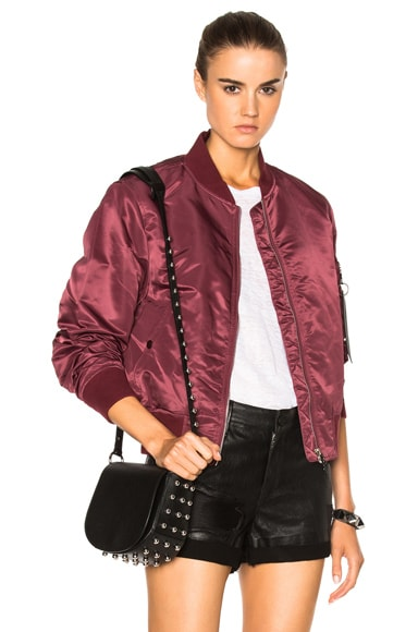 Rag & Bone Manston Bomber Jacket in Burgundy